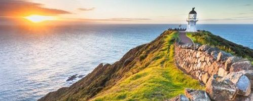 Cape Reinga at Sunset.